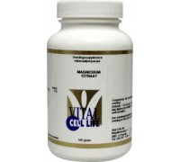 Magnesium citraat 160 mg poeder, Vital Cell Life, 100g