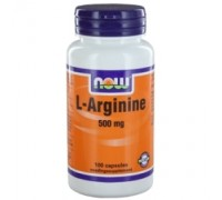 L-Arginine 500 mg, NOW, 100ca
