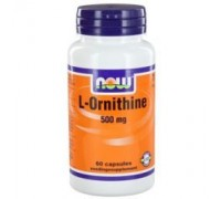 L-Ornithine 500 mg, NOW, 60ca