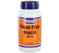 Niacine flush vrij 250 mg, NOW, 90ca