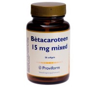 Betacaroteen 15 mg mixed, Proviform, 50sft