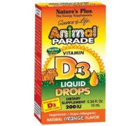 Animal parade vitamine D-3 druppels, Natures Plus, 10ml