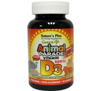 Animal parade vitamine D3 kauwtablet, Natures Plus, 90kt